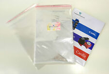 100 x A4 C4 Clear Cello Bags for Greeting Cards | Plastic Cellophane Peel & Seal