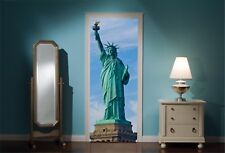 Porte mural Statue de la Liberté vue Mur Autocollants Décalcomanie Papier Peint 71