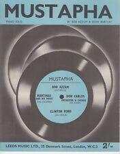 Mustapha - Bob Azzam and others - 1960 Sheet Music