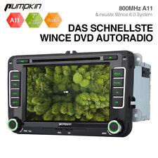 "Doppel DIN 7"" Autoradio DVD GPS Navi Touch Screen für VW Golf Touran Caddy Skoda"