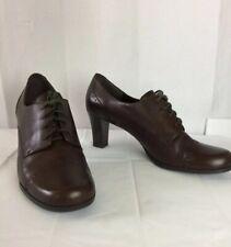 Etienne Aigner E-NADA Brown Leather,Lace Up,SZ 9 1/2 M Pump Heels,Cap Toe, Shoes