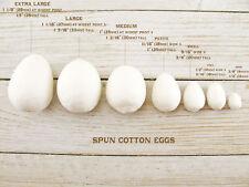10 Large Vintage Style German Spun Cotton EGGS Easter Crafts Decoration 33mm