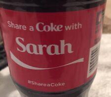 Share a COKE with Sarah 20 fl oz Collectible Bottle Rare Coca-Cola 10/26/15