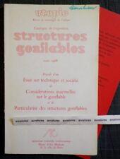 Rare STRUCTURES GONFLABLES 1968 UTOPIE Jungmann Aubert Stinco Aérolande Quasar..