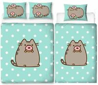 Pusheen Doughnut Single/Double Reversible Duvet Cover Bedding Set
