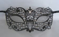 Black Filigree Starry Night Venetian Party Metal Masquerade Mask No 25 * NEW *