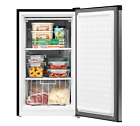 Upright Freezer 3 Cu. Ft. Compact 3 Shelves Energy Star Food Storage  Silver NEW photo