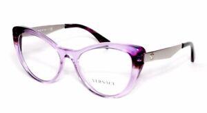 Versace Eyewear 3244 5240 51.17 140 Transparent Violet Silver Women's Frames