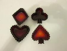 Royal Ruby Ashtray Bridge Set Diamond, Spade, Heart, Club