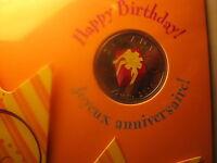 Canada 2010 Rare Coloured 25 Cent Coin Happy Birthday RCM Mint Set.