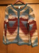 Vintage Women's The Territory Ahead Southwestern Cardigan Sweater Large Rust