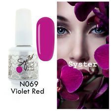 SYSTER 15ml Nail Art Soak Off Color UV Lamp Gel Polish N069 - Violet Red