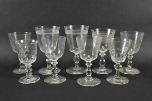 k47a28- 9x Weinglas, verschiedene Formen
