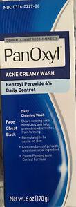 PanOxyl Acne Creamy Wash 4% Benzoyl Peroxide Spot Treatment Daily Wash 5.5 oz