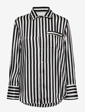 BNWT Polo Ralph Lauren Black and White Striped Button Shirt Size Small RRP £229