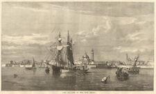 Port & town of Veracruz, Mexico 1867 antique ILN full page print