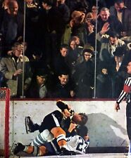 BOBBY ORR FIGHT PAT QUIN  TORONTO  BOSTON PRINT  PHOTO 8X 10 COLOR