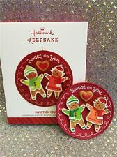 2014 HALLMARK ORNAMENT SWEET ON YOU  - GINGERBREAD BOY & GIRL COOKIES ON PLATE