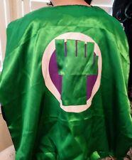 Super Green Man Superhero Incredible Hulk Green Cape One Size