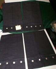 "NEW 4 Hemstitched Hand Towels 14"" X 22"" 45% Cotton 55%LINEN BLACK(SLATE)"