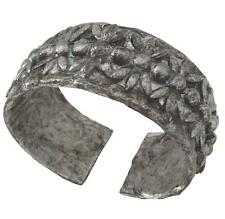 Womens Hand Made Cuff Bracelet Upcycled Paper Antique Silver Finish Industrial