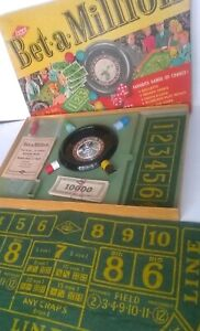 Vintage Lowe Bet a Million Game Roulette Craps Chips Gambling Casino Complete