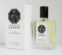 LANVIN ( I ) VETYVER BLANC 1.7 oz 50 ml eau de toilette unisex new in box sealed