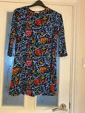 Ladies Clothes TU Sainsbury's Long Tunic Top Size 12 Bold Print (619)