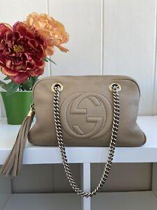 Gucci Soho Handbag Leather tassel shoulder Bag Authentic