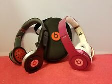 Beats by Dr. Dre Studio 2 Headphones1 Black 1 Pink & case FOR PARTS NOT WORKING