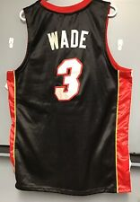 8ed4400d9 100% Authentic ~Dwayne Wade~ Adidas Miami Heat Jersey Men s Size  40  Stitched