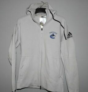 Adidas NHL Vancouver Canucks Hooded Hockey Jacket Mens Sizes New $120