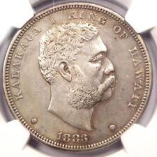 1883 Hawaii Kalakaua Dollar $1 - NGC AU Details - Rare Certified Silver Coin