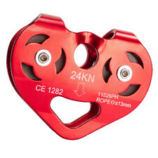24Kn Rock Climbing Zip Line Rope Wire Cable Trolley Pulley Safe Hardware
