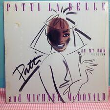 "PATTI LABELLE & MICHAEL MCDONALD -  On My Own 12"" Single Vinyl Record (1986)"