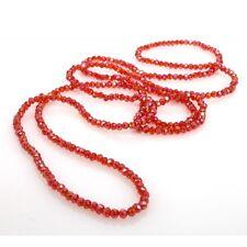 Collana di Cristalli 4mm elastica o Bracciale tanti giri da Donna rosso