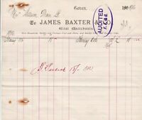 James Baxter & Co. Coban 1906 Coal Merchants Best Household Invoice Ref 40609