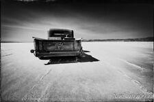 12x18 in. Ford Pickup Truck Garage Art Man Cave Hotrod Bonneville Salt Flats
