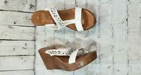ITALIAN SHOEMAKERS White Lightweight Wedge Sandals WOMEN'S SIZE 11