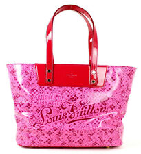 LOUIS VUITTON Fuchsia Pink Shiny Leather COSMIC BLOSSOM PM Tote Bag