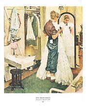"Norman Rockwell print: ""THE PROM DRESS"" 11"" x 15"" High School dance"