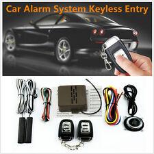 8Pcs Car Security Alarm System Starter Keyless Entry Remote Start &Push Button