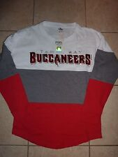VICTORIAS SECRET PINK BLING NFL TAMPA BAY BUCCANEERS OVRSZ SWEAT CREWNECK XS NWT