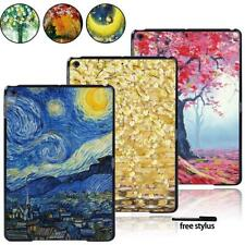 For Apple iPad / Mini / Air / Pro Tablet Lightweight Hard print Case Cover +Pen