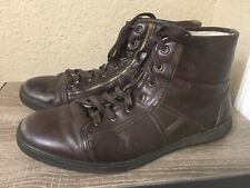 Allen Edmonds Brunico Brown Leather Lined Ankle Boots Made In Italy US Men 11.5M