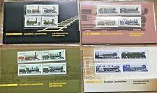 Canadian Locomotives 4 Postage Stamp Pack Folders VTG 1983-84-85-86 Set Of 4 #H