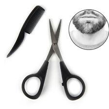 Men Beard Mustache Nose Ear Scissor Comb Trim Kit Facial Care Hair Trimmer FBCA
