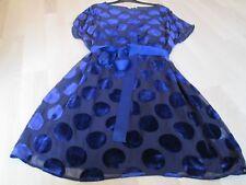BODEN  New Amelie Dress - Dark Blue Velvet Spot SIZE 20 REG BNWOT