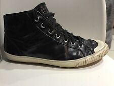 Great Tretorn Sneakers In Patent Black Leather Size US 9, UK 6.5