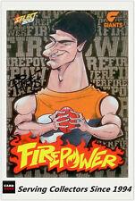 2013 AFL Champions Laserfoil Firepower Caricature FC27 Jonathan Patton (GWS)